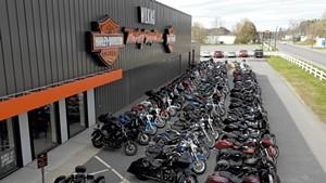 Bikes outside Wilkins Harley-Davidson