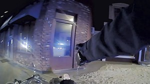 Mark Schwartz using his Taser during the incident that led to his arrest