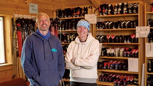Eli Enman and Molly Peters of Sleepy Hollow Inn, Ski & Bike Center