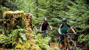 Bikers at Kingdom Trails in 2019