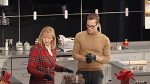 Thomas McCurdy and his mother, Cathy Jacobson, competing on 'Crime Scene Kitchen'