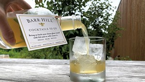 A Barr Hill Eastbound & Down cocktail to-go