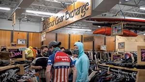 Shoppers at Outdoor Gear Exchange in Burlington