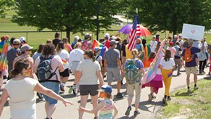 Marchers in Hinesburg