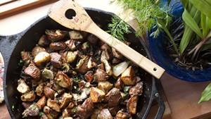 Winter potatoes, spring herbs