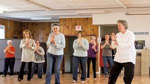 A tai chi class at the Heineberg Senior Center in Burlington