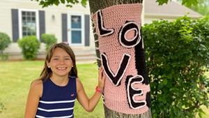 """Daniella D'Agostino with a """"love"""" wrap in Williston"""