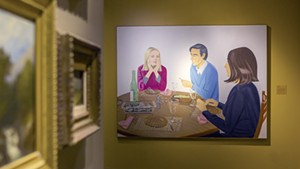 """Supper"" by Alex Katz, gallery view"