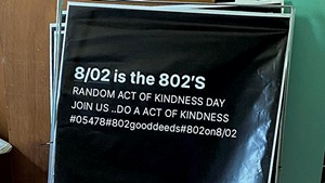 Lawn signs for 802 Good Deeds Day