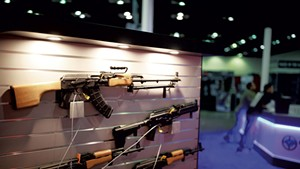 A Century International Arms booth at a National Rifle Association convention in Indianapolis