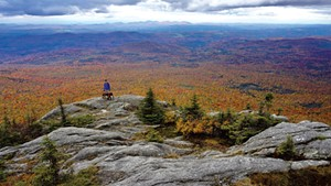 A foliage hike at White Rock Mountain