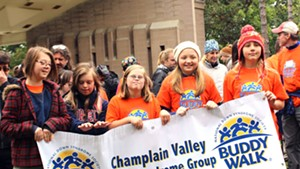 Participants in the 11thannual Champlain Valley Down Syndrome Group Buddy Walk