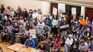 The scene at Monday's meeting
