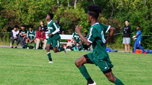 A Winooski High School soccer game this fall