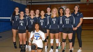 Burlington High School's girls' varsity volleyball team