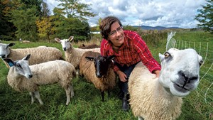 Katie Sullivan checking on her flock in Albany