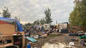 The Sears Lane encampment