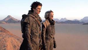 SAND TRAP Chalamet and Ferguson fight to survive the desert — and reams of exposition — in Villeneuve's sci-fi adaptation.
