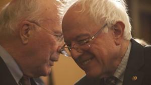 Sen. Patrick Leahy, left, and Sen. Bernie Sanders in 2014