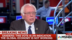 Sen. Bernie Sanders appears Friday morning on MSNBC.