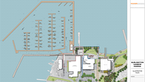 Current rendering of Burlington Harbor Marina