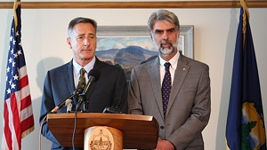 Gov. Peter Shumlin and Vermont State Colleges Chancellor Jeb Spaulding