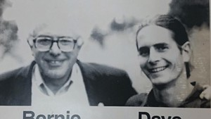 Undated photo of Sen. Bernie Sanders and Sen. David Zuckerman from a previous campaign