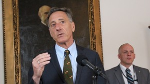 Gov. Peter Shumlin at the Statehouse in March
