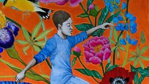 Detail of mural for skate park