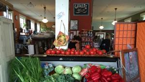 Local and organic produce at Moon Dog Café