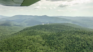 The Green Mountain Forest area, near an existing Searsburg wind project, where a 15-turbine project is planned.