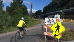 The capital bond would fund additional repaving of the Burlington Bike Path.