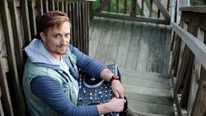 Musician Julian DeFelice, of Orange Julians, with his digital DJ controller at his home in Stowe