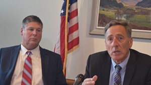 Al Gobeille and Peter Shumlin in September