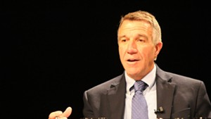 Lt. Gov. Phil Scott at a debate in Burlington in September