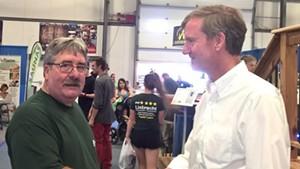 Republican House candidate Patrick Liebrecht and U.S. Senate candidate Scott Milne