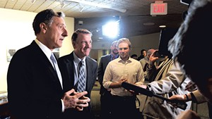 Far left: Gov. Peter Shumlin and governor-elect Phil Scott