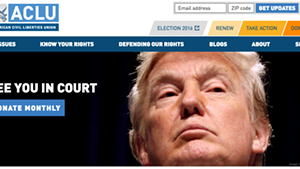 The ACLU's website