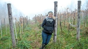 Deirdre Heekin in her Barnard vineyard