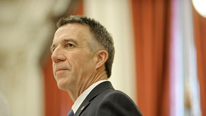 Gov. Phil Scott delivers his inaugural address last Thursday at the Statehouse