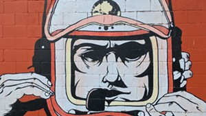 S.P.A.C.E. Gallery's Spaceman mural by Adam Devarney