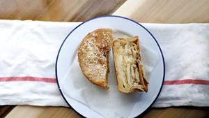 Cheese, potato and artichoke pie