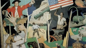"""Paul Sample's 1958 mural, """"Tribute to Vermont"""""""