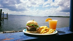 Burger, fries and booze at Breakwater