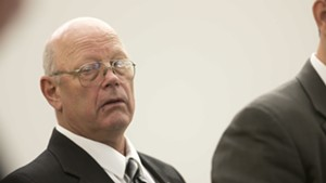 Norm McAllister in court in January