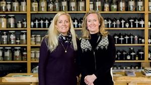 Louisa Schibli (left) and Janice Shade at the Burlington Herb Clinic