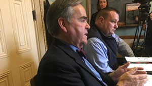 Department of Motor Vehicles Commissioner Robert Ide and Col. Jake Elovirta