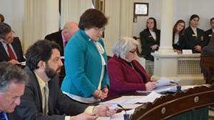 Sen. Debbie Ingram speaks earlier this month in favor of raising the legal smoking age to 21.