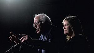 Sen. Bernie Sanders with Jane O'Meara Sanders