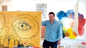 Ross Sheehan in his studio